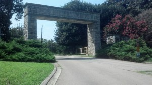 Joseph Bryan Park entrance, former bivouac of 9th Virginia Cavalry