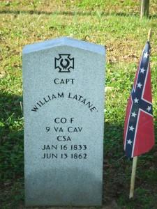 Hanover County grave site of 9th Virginia Cavalry's Captain William Latane