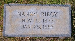 Nancy Rigby headstone – wife of John Rigby, 35th Georgia Infantry Regiment. See link below for image credit.