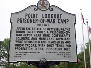 Point Lookout Prison Camp marker